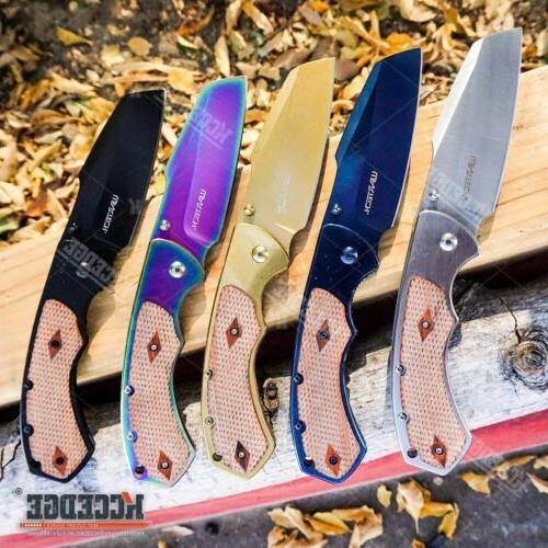 8 cleaver razor assisted open pocket folding