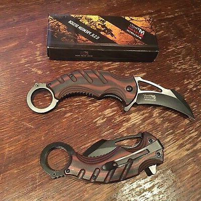 "8"" Spring Assisted Open Folding Karambit Claw Combat"