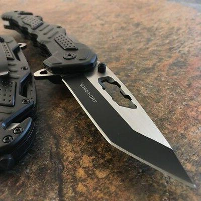 """8"""" TAC-FORCE Spring Assisted TACTICAL TANTO Folding Open Poc"""