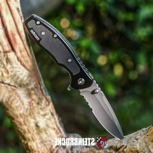 8 tactical spring assisted folding knife blade