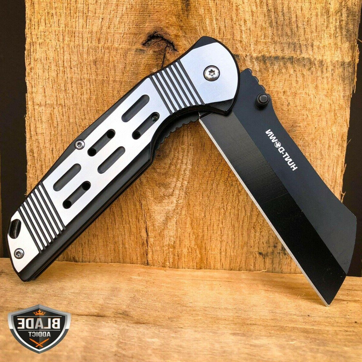 "8"" Spring Assisted Open Pocket RAZOR FOLDING Blade"