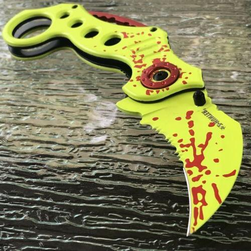 8 zombie hunter karambit claw blade assisted