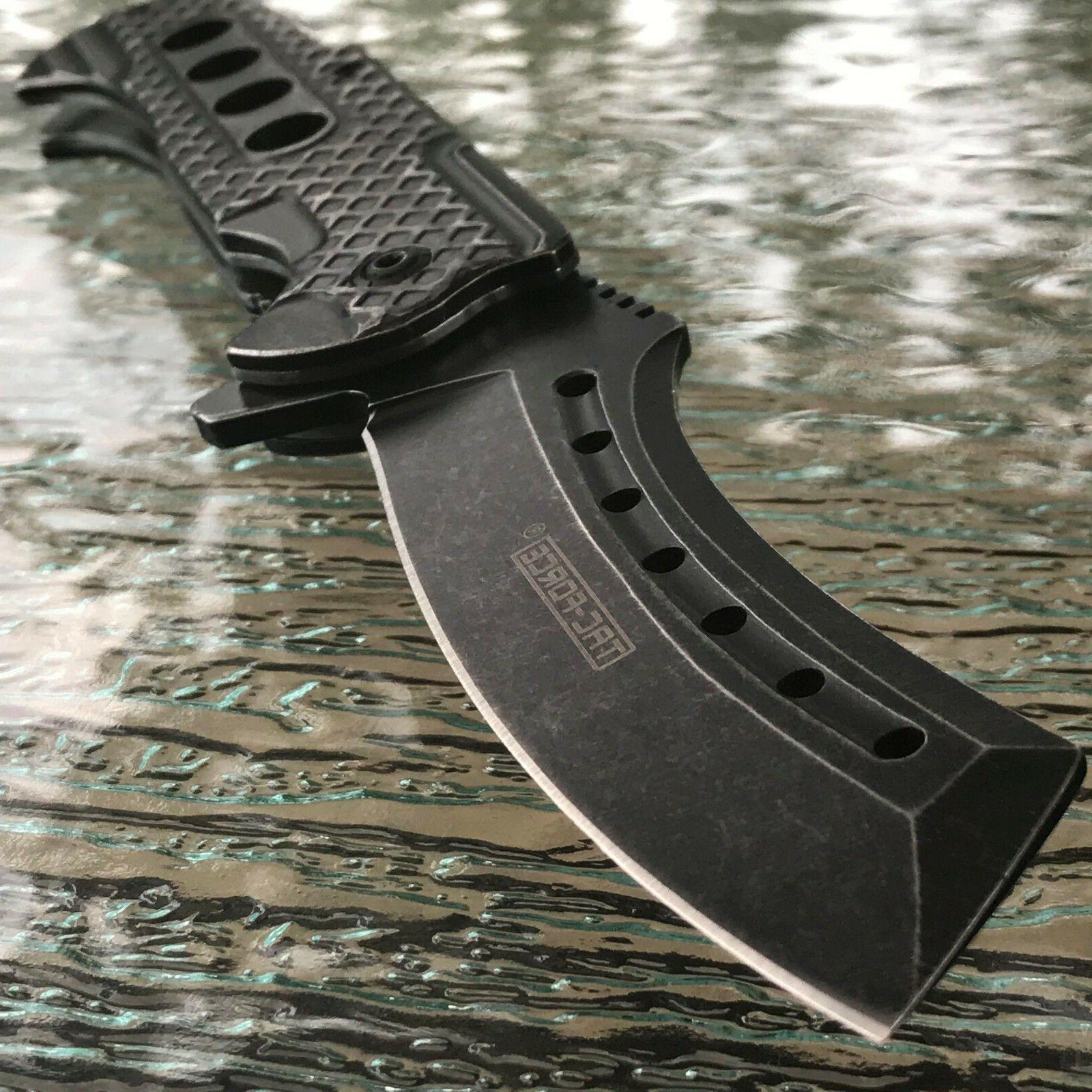 "9"" Spring Assisted Pocket Knife STONEWASH"