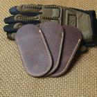 Artificial Leather Knife Case Thinner Brown Pouch Sheath Fol