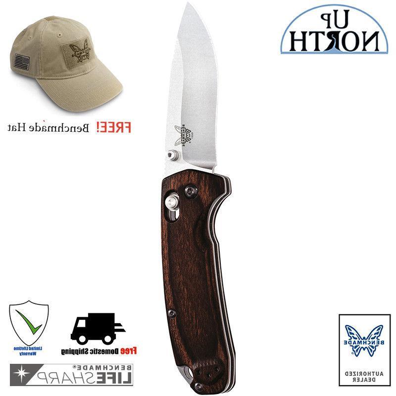 BENCHMADE HUNT 15031-2 North Fork Folding Knife G10 Handle F