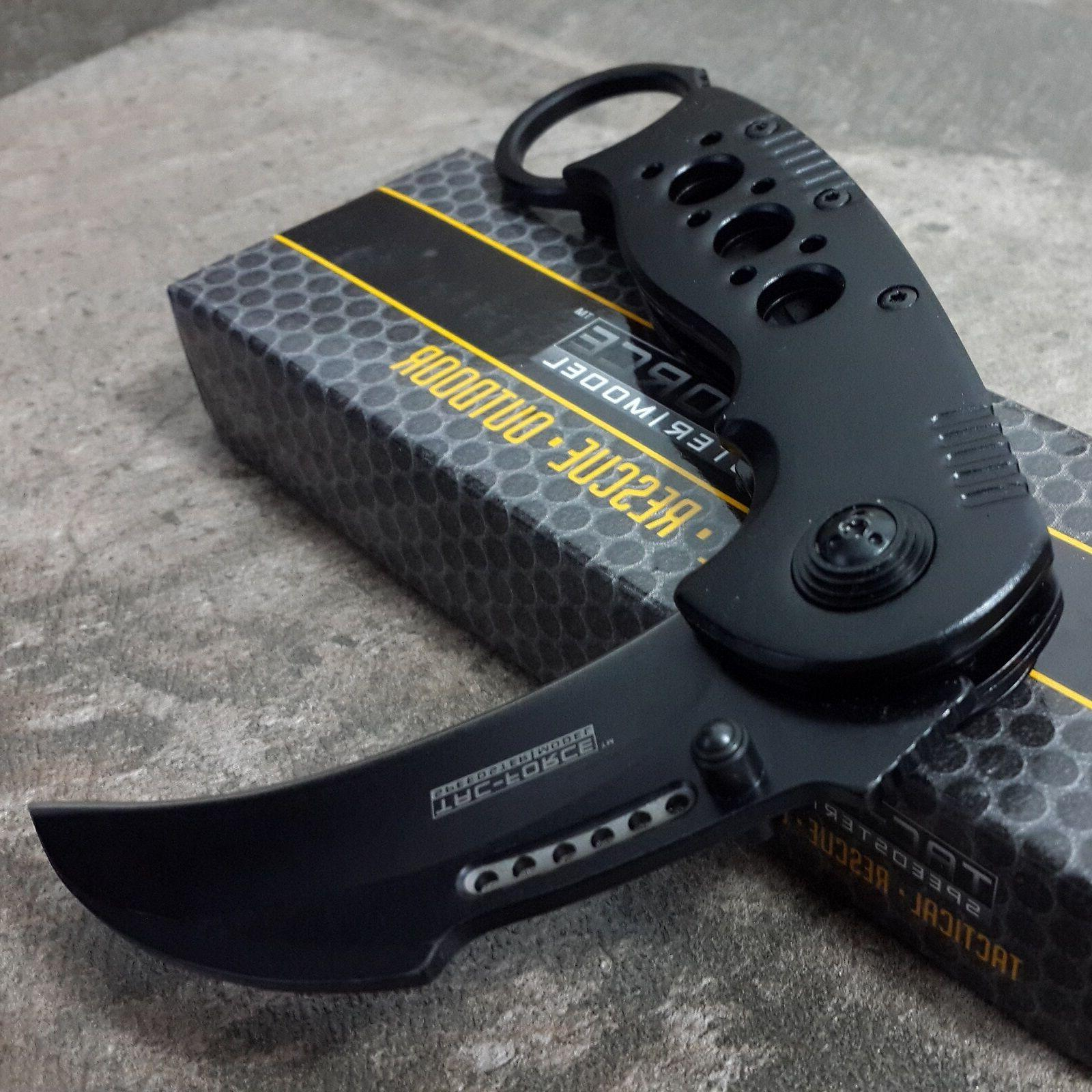 BLACK KNIFE Tactical Folding Claw Assisted