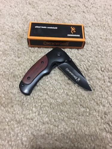 BROWNING fa15 Small Straight Folding Pocket Knife! USA selle