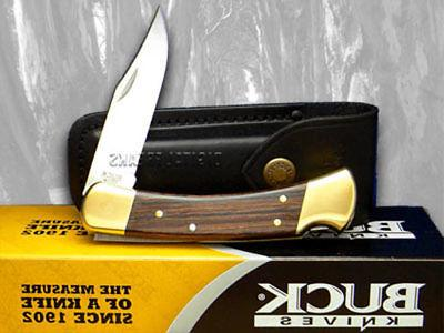 BUCK 110 Folding Hunter Wooden Pocket Knives Knife