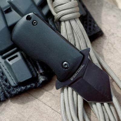 5 covert mini folding pocket knife black