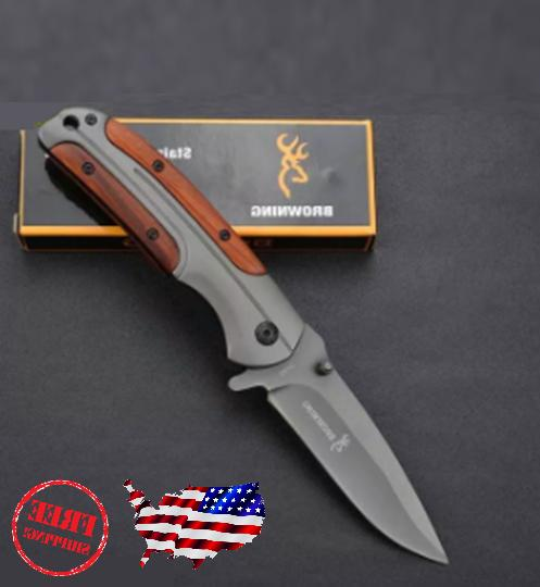 Browning DA43 Folding Pocket Knife Combat Knife USA SELLER
