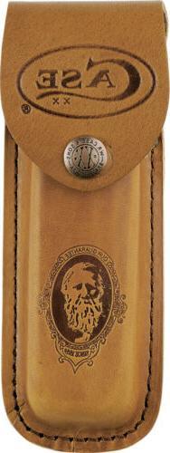 Case XX LG Job Brown Leather Sheath Case for Folding Pocket