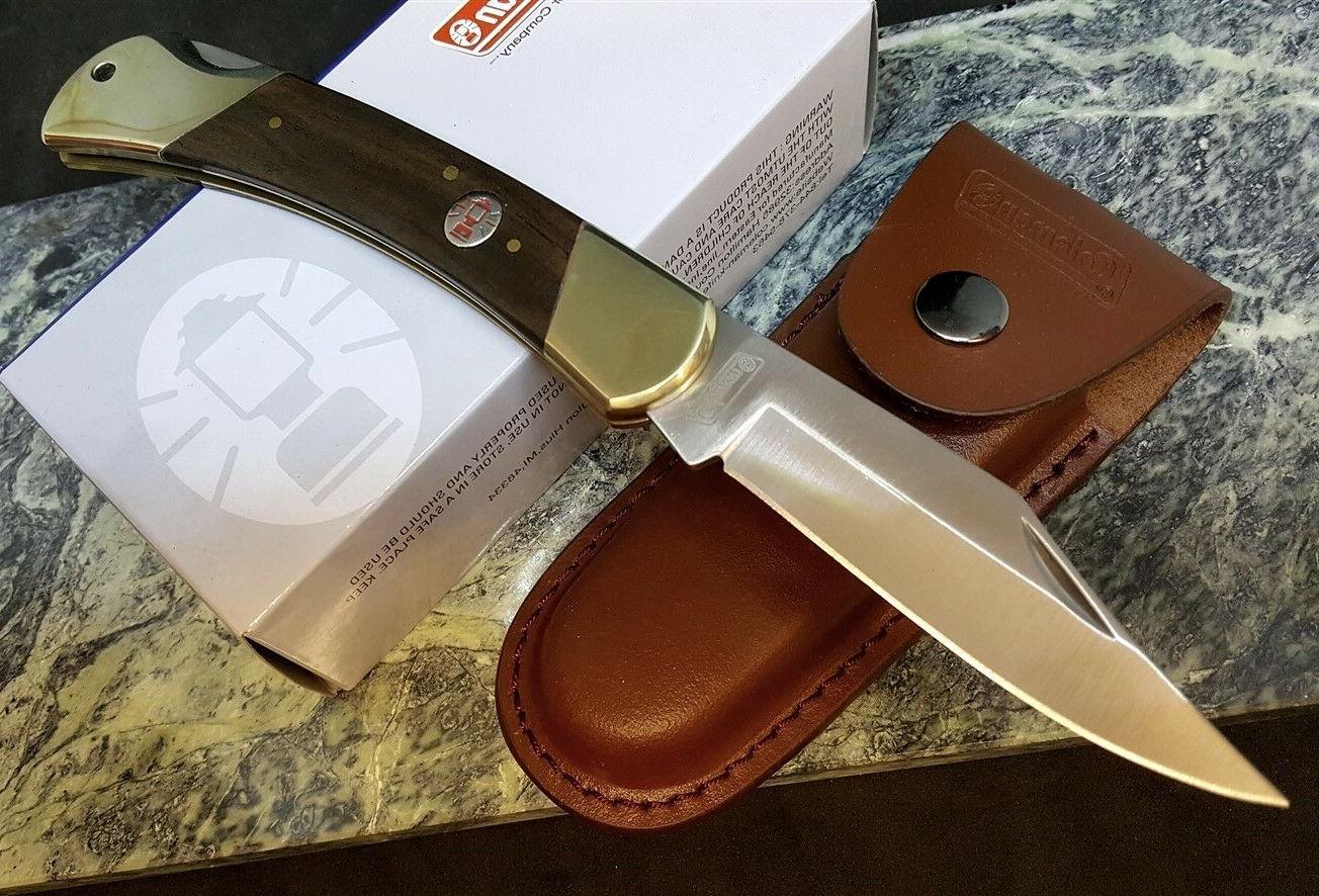 Coleman folding Blade Knife Pocket Lockback Hunter with Leat