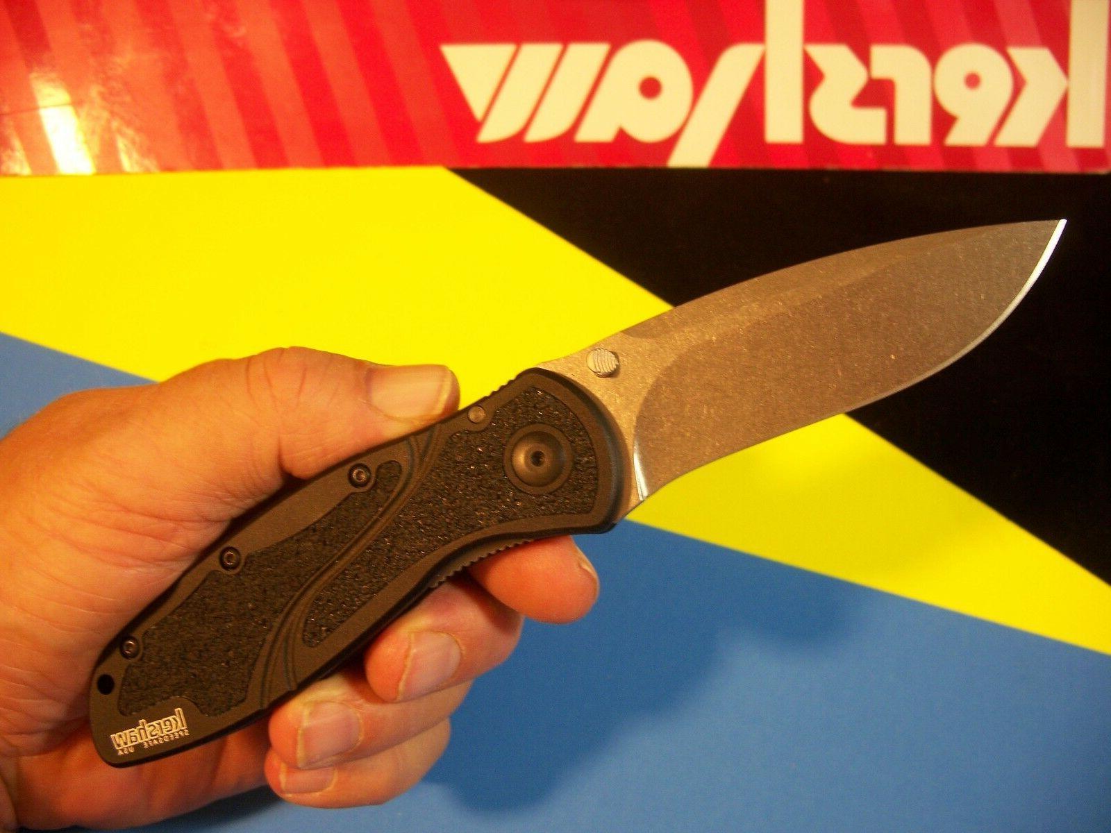 """KERSHAW """"usa"""" - BLUR S30V spring assist SPEEDSAFE knife Ken"""