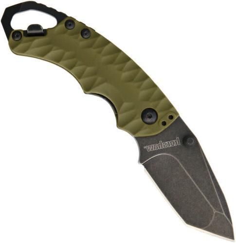 Kershaw Shuffle 2 Olive Green Folding Pocket Knife Blackwash