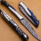 Laguiole Bee Damascus Steel Folding Knife w/ Corkscrew