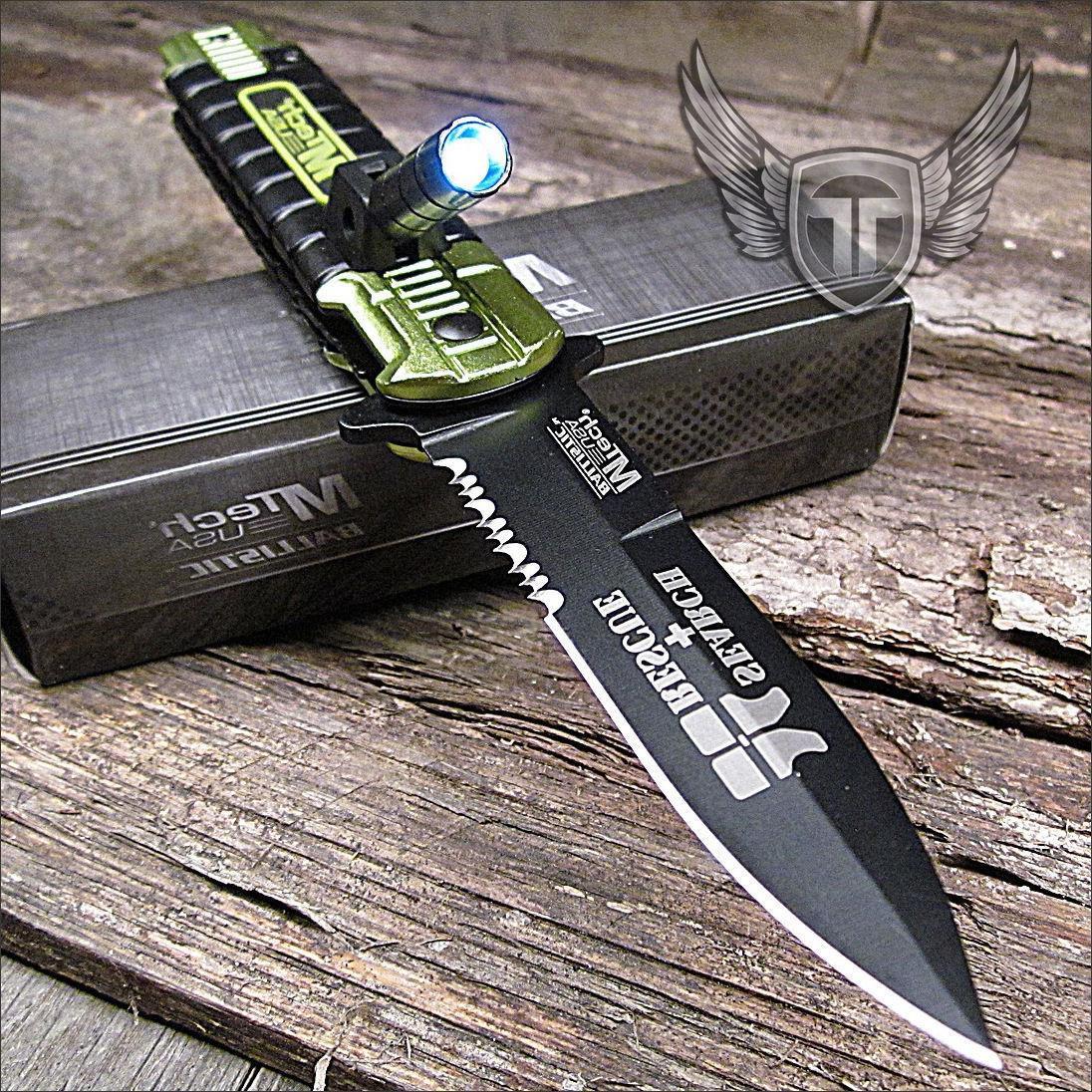 MTECH EMT EMS ASSISTED KNIFE FLASHLIGHT