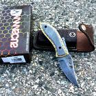 """NEW Hand Made 7.5"""" FULL Damascus Steel PREMIUM Folding Knife"""