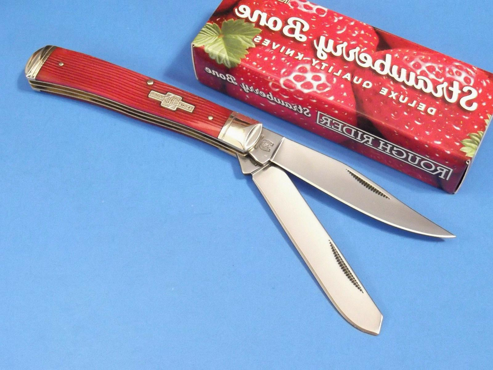 ROUGH Strawberry TRAPPER pocket knife NEW!