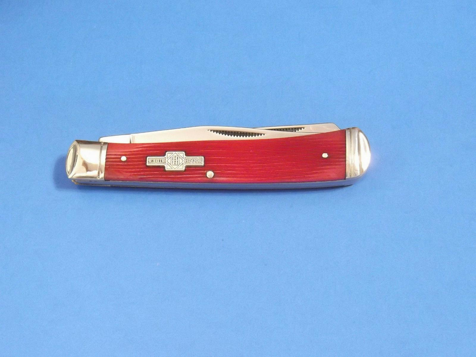 ROUGH Strawberry Bone TRAPPER knife NEW!