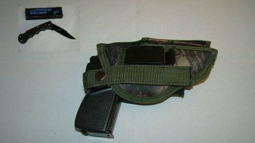 COBRA CA 380 CAMO GUN HOLSTER, Hip ,W/FREE FOLDING KNIFE, 30