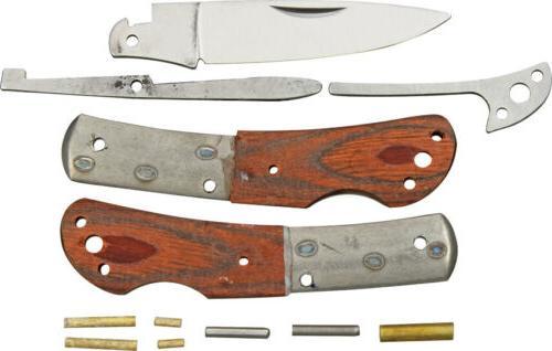 Rough Rider Custom Shop Lockback Wood Stainless Folding Blad