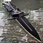"""TAC FORCE 9"""" DAGGER STYLE MEDIEVAL CRUSADER CROSS SPRING ASS"""