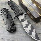 """TAC-FORCE Open Assisted 3.5"""" 3MM Urban Camo Half serrated bl"""