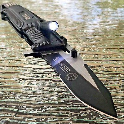 """8.5"""" TAC FORCE EMT SPRING ASSISTED TACTICAL KNIFE w/ LED LIG"""