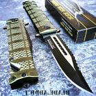 TAC FORCE Spring Assisted Open Military GREEN Bowie Rescue T