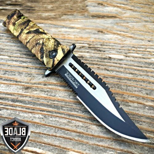 Tac Force Jungle Camo Spring Assisted Open Sawback Rescue Ta