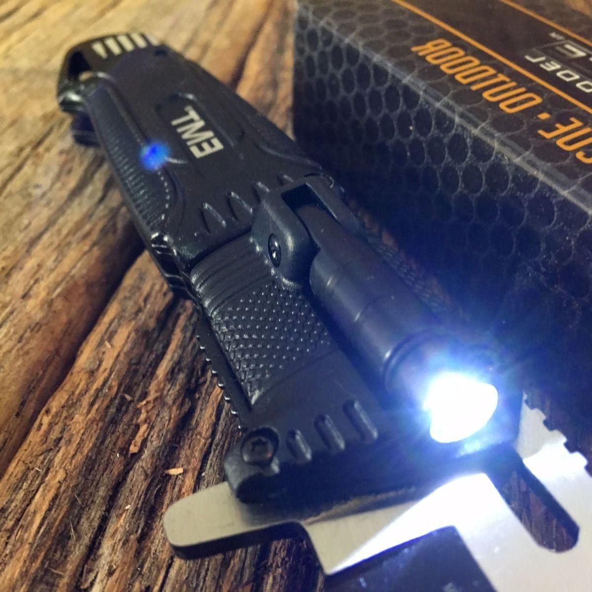 Tac-Force EMS Folding Rescue Serrated Light