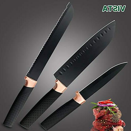 Best Sets Kitchen pcs 5CR15 Chef Knife Bread Cleaver Kitchen Knife Accessories - by -