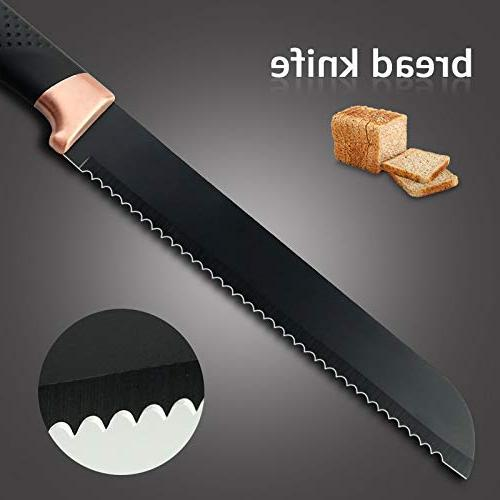 Best Quality - Sets Kitchen pcs 5CR15 Chef Knife Bread Cleaver Kitchen Accessories - -