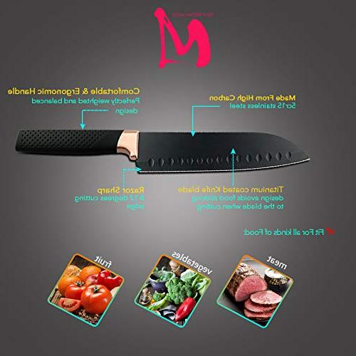 Best Sets - Stainless Kitchen Knives Set pcs Chef Knife Bread Meat Cleaver Knife -