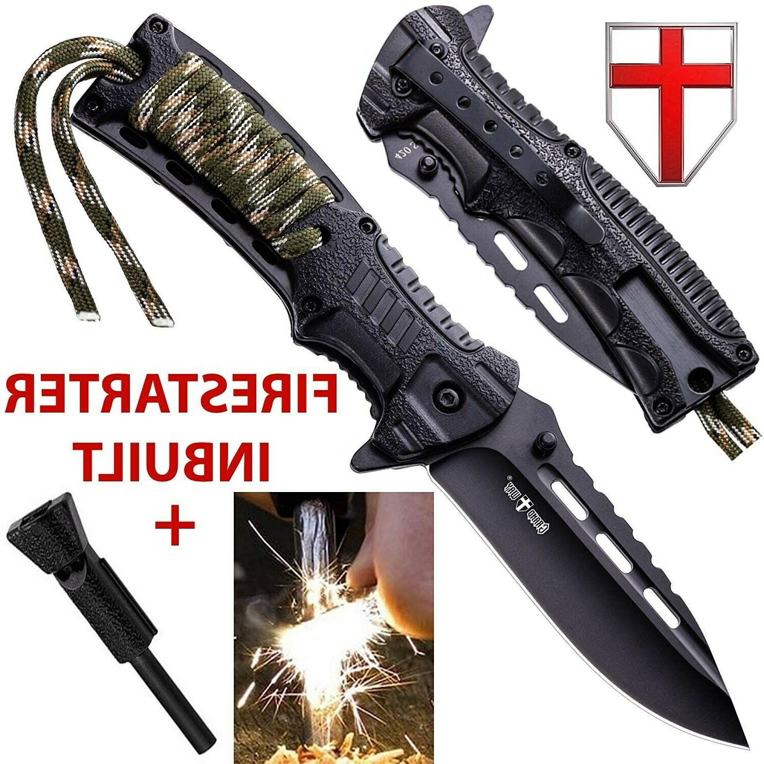 Best Survival Knife Edc Small Pocket Tactical Folding With F