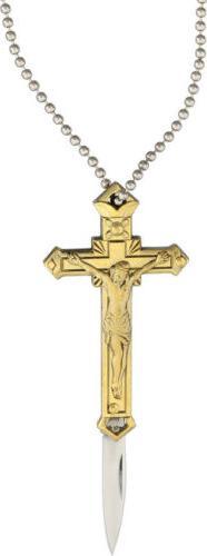 brass cross knife folding knife brass cross