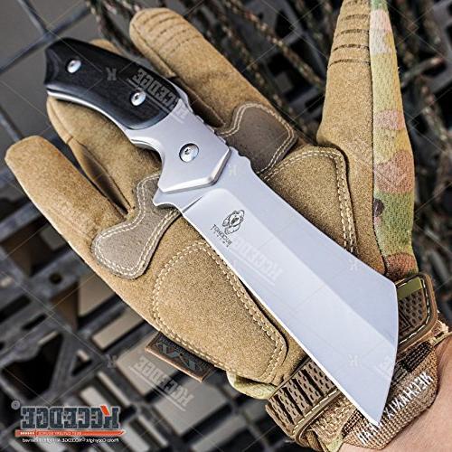 "Wartech Buckshot Knives Set 8"" Blade + Miniature Cleaver Folding Knife"
