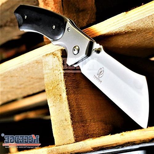 Wartech Buckshot Combo 3 Set Outdoor Fixed Blade + Cleaver + Miniature Folding Hunting