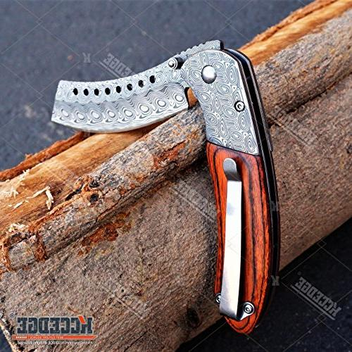 "PC 8.75"" FIXED BLADE + SHAVER Folding Blade KNIFE"