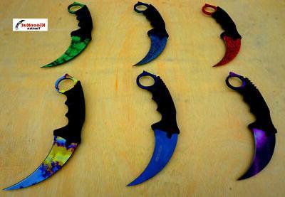 """Wartech  CSGO 7.5"""" TACTICAL NECK KNIFE KARAMBIT Hawkbill BOW"""