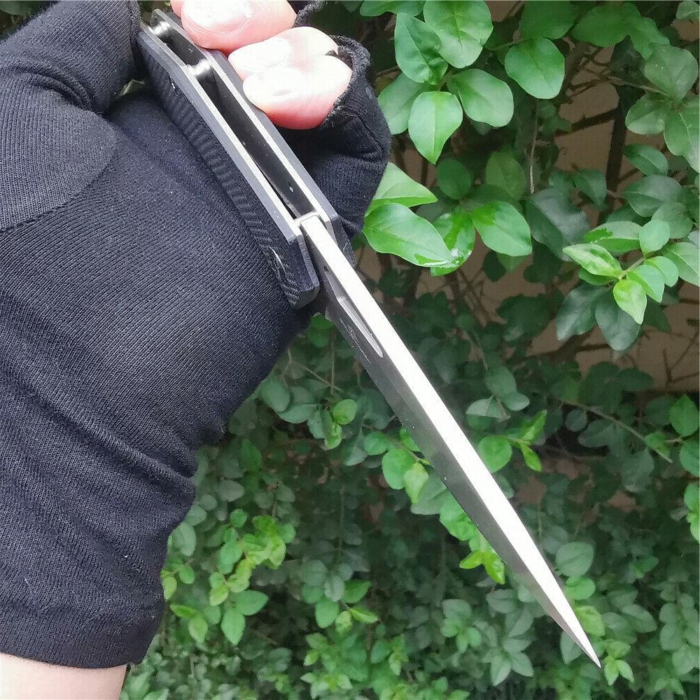 D2 G10 Folding Knife Pocket Hunting Survival Outdoor Knife