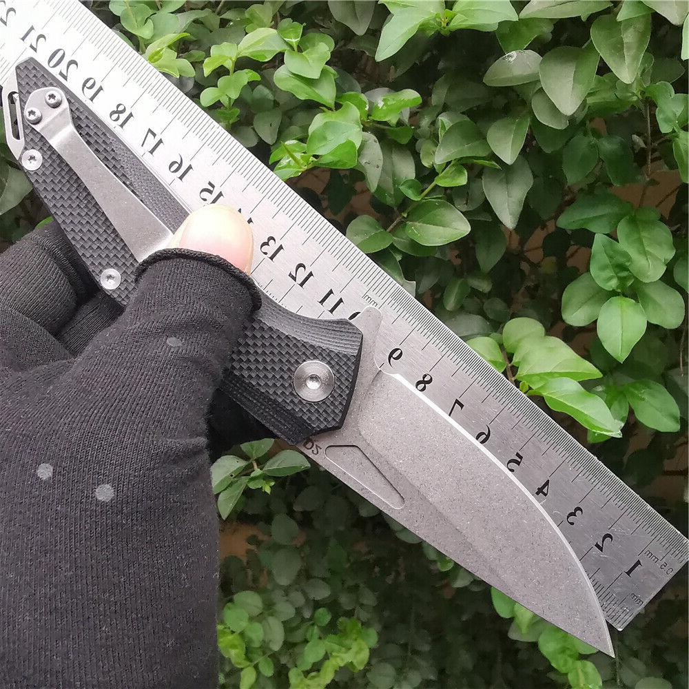 D2 G10 Handle Folding Hunting Outdoor