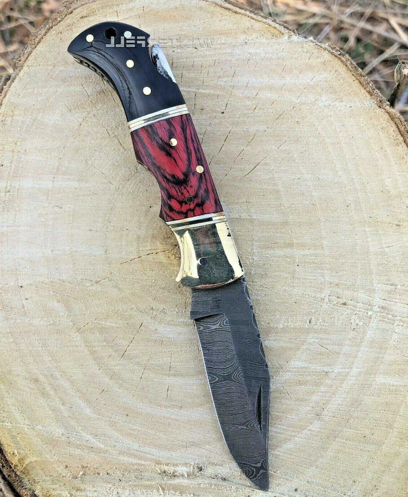 Damascus Knife With Sheath