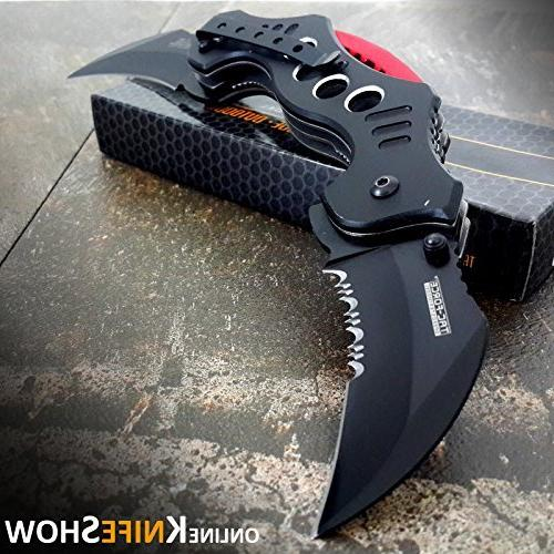 dual blade karambit spring assisted