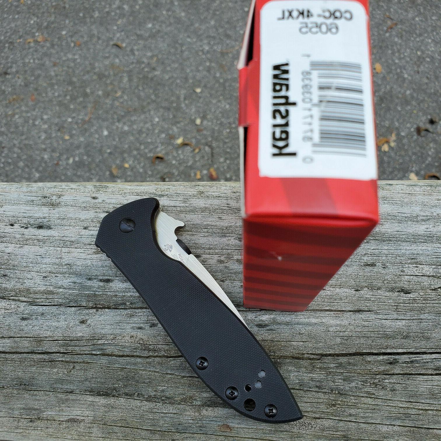 "Kershaw CQC-4KXL Knife 3.88"" 8Cr14MoV Steel Blade"