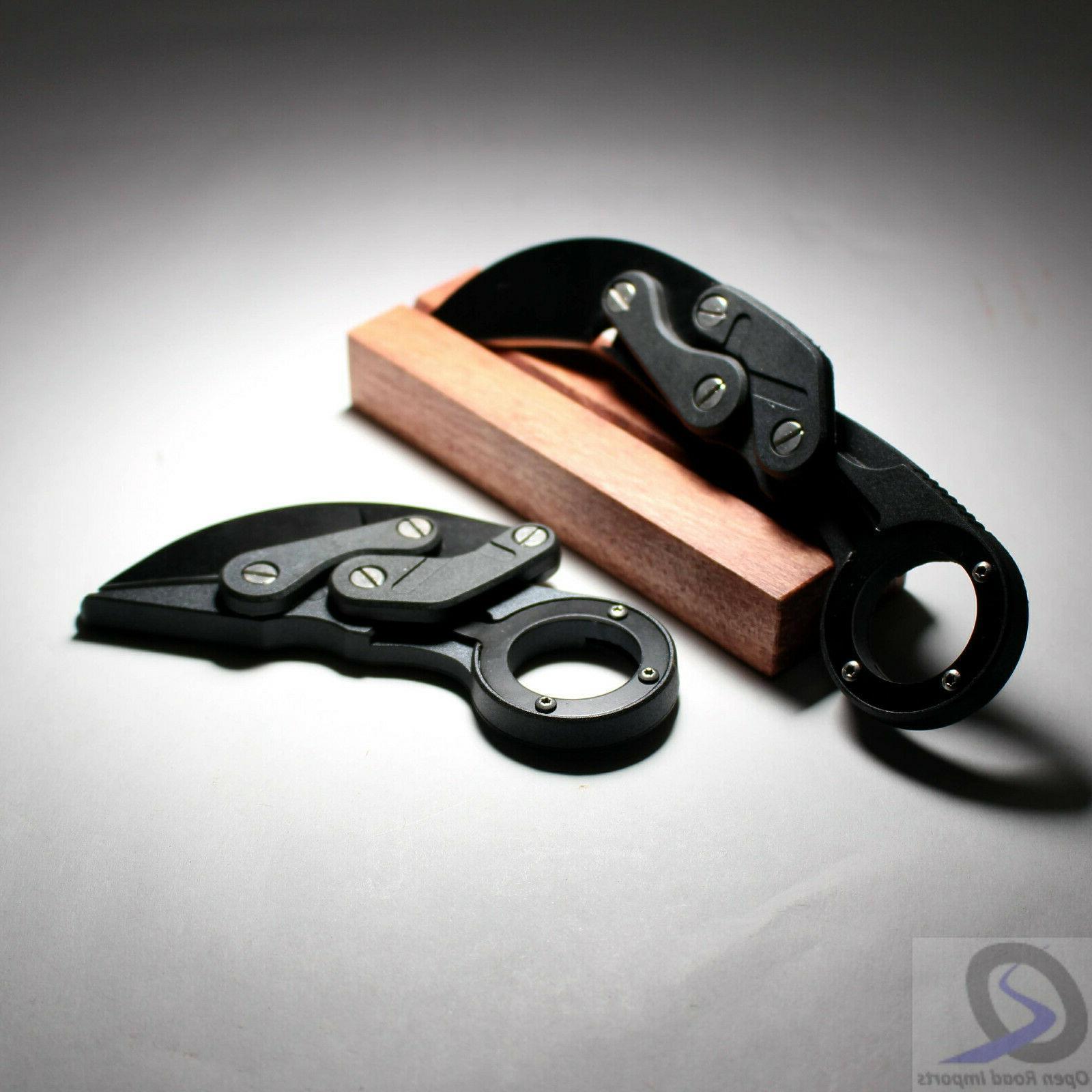 folding karambit stainless knife composite build 2