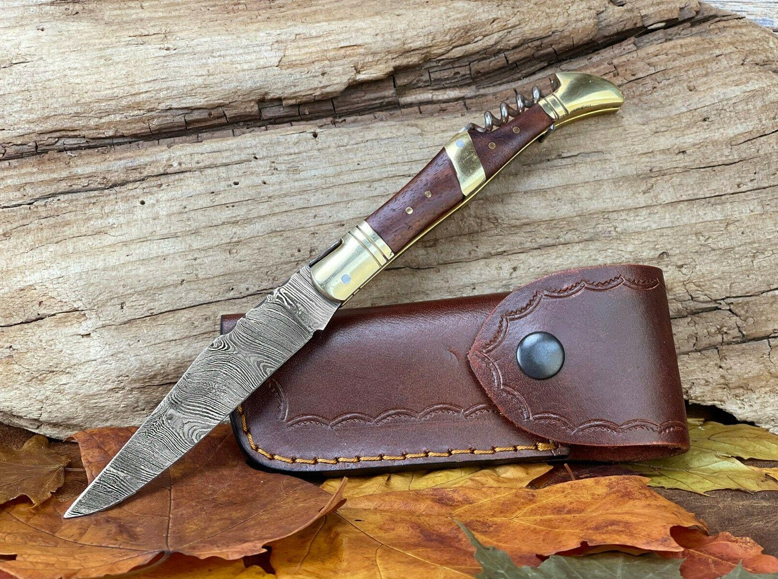 folding knife 100 percent handmade corkscrew laguiole