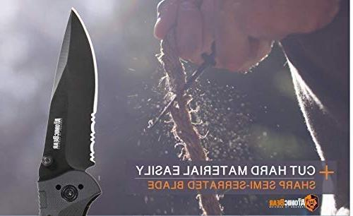 The Knife Half Stainless Steel G10 Handle for Rescue, Self Climbing,