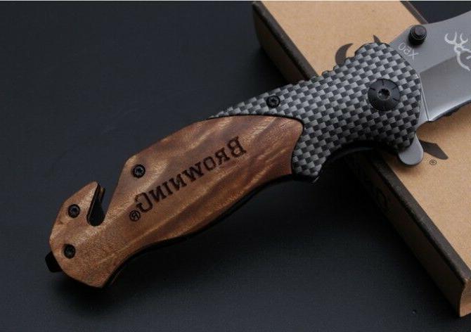 BROWNING X50 Folding Tactical Pocket Knife Hiking Survival