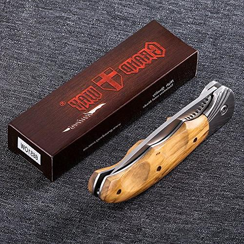 Grand Gentleman's Knife with Wood EDC with safety for Hunting and 6651